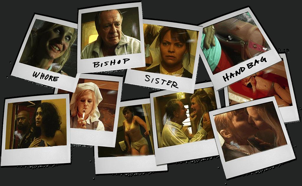 Dirty Habit Polaroids, Whore, Bishop, SIster, Handbag